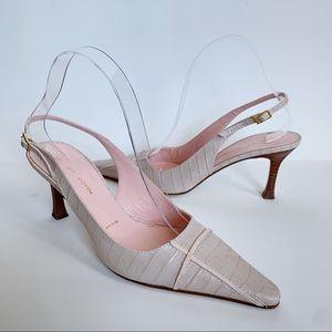 St. John Slingback Point Toe Pumps Heels Pink Sz 8